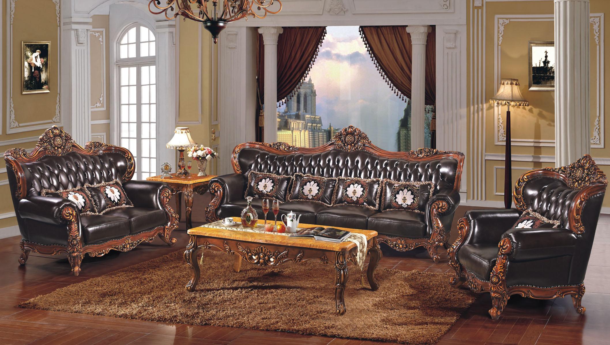 彪虎 欧式奢华古典客厅家具 实木沙发 z-b064