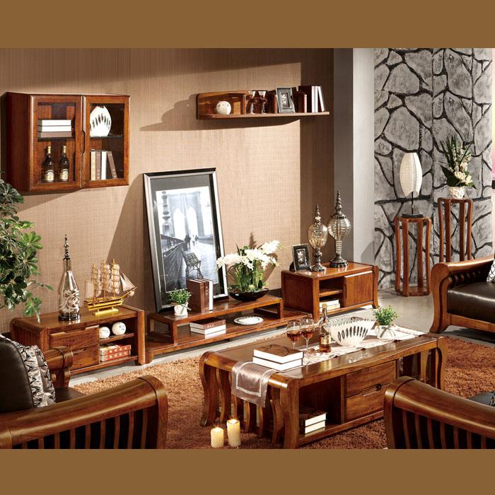 源木軒 凱尊系列 虎斑木實木中式客廳家具 組合廳柜 茶幾 z-dk09